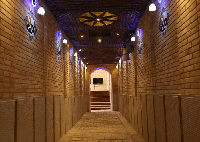 راهرو اقامتگاه سنتی پنج دری شیراز