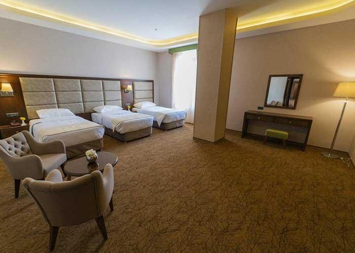 اتاق چهار تخته هتل امپریال ارس جلفا