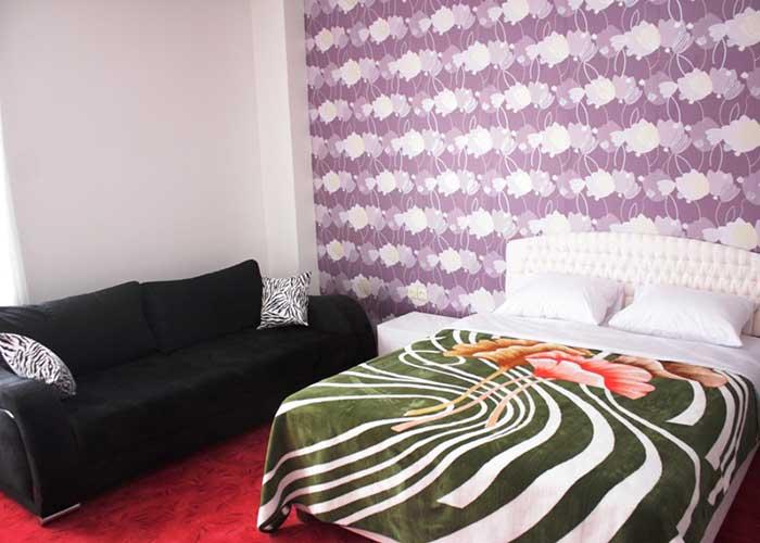 فضای اتاق دو تخته دبل هتل آپارتمان آنازا کلیبر