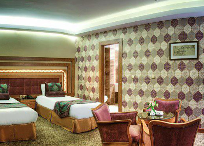 دو تخته توئین هتل آریوبرزن شیراز