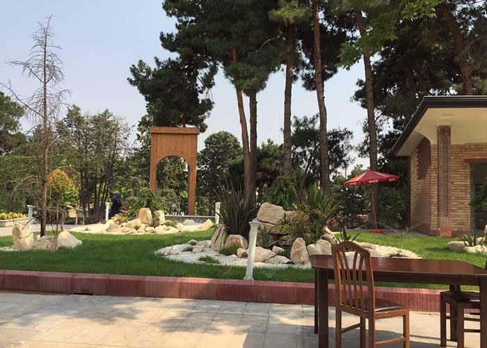 فضای سبز هتل بلوط تهران