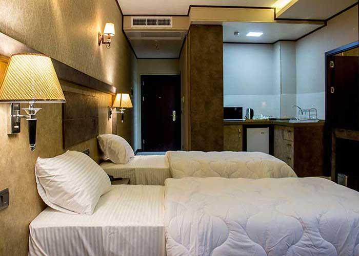 اتاق های هتل باران اصفهان