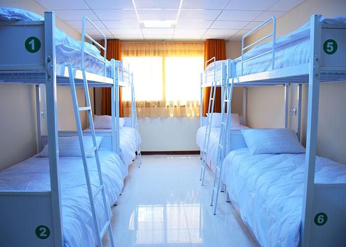 اتاق های اشتراکی مهمانپذیر بید