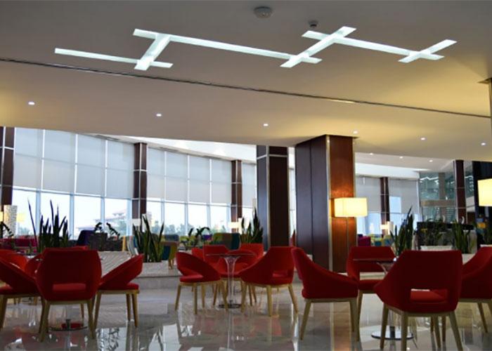 نمای لابی هتل بین المللی کیش