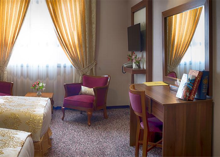 عکس دو تخته هتل بین الحرمین شیراز