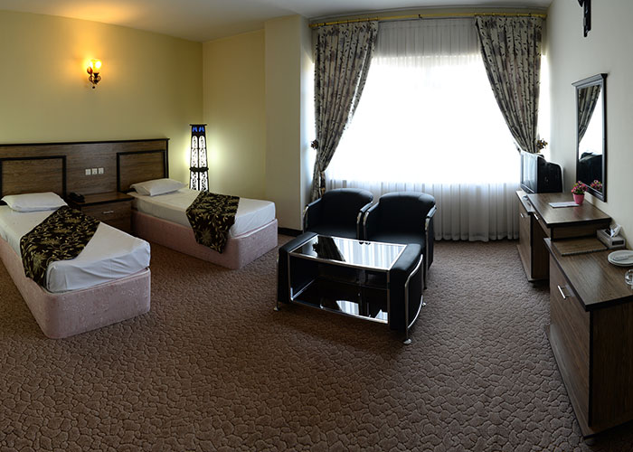 اتاق دو تخته دبل هتل بزرگ مراغه