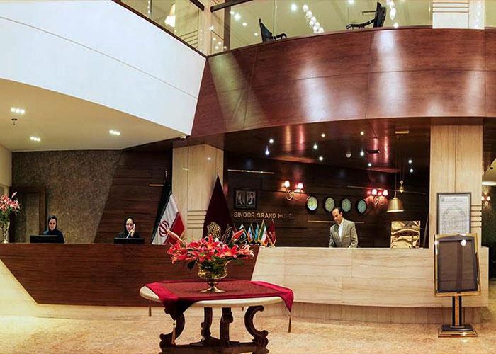 پذیرش هتل سینور مشهد