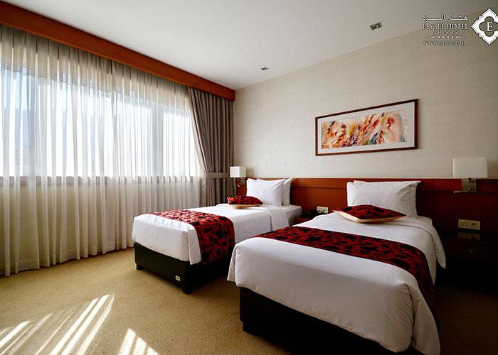 دو تخته توئین هتل الیزه شیراز