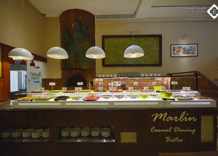 بوفه رستوران مارلین هتل الیزه شیراز