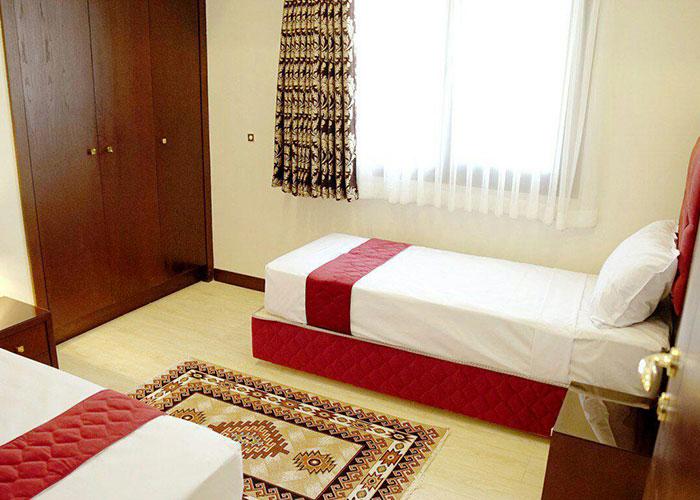 اتاق دو تخته هتل آپارتمان اریکا