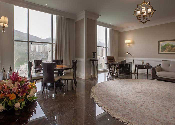 سالن سوئیت پرزیدنت هتل اسپیناس پالاس تهران