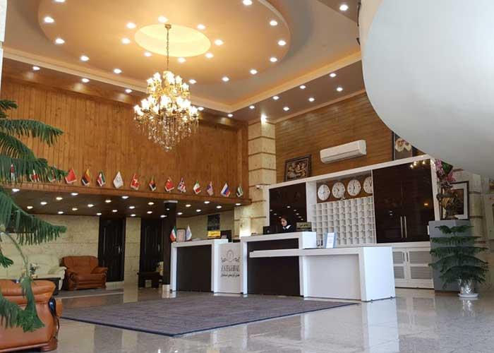 فضای لابی هتل آپارتمان استقبال تبریز