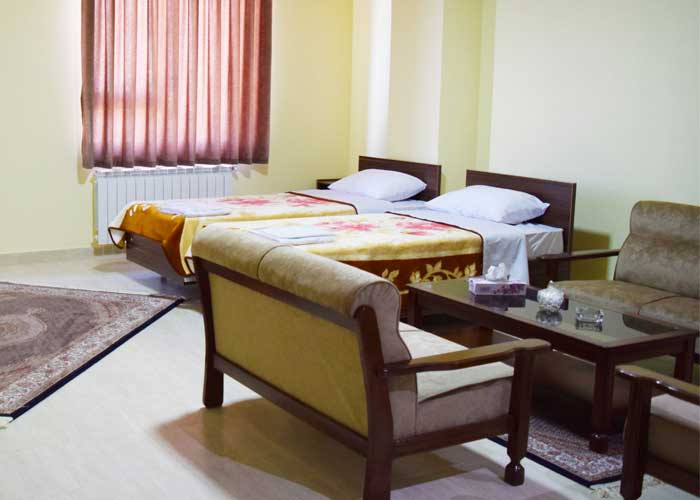 اتاق دو تخته توئین هتل آپارتمان استقبال تبریز