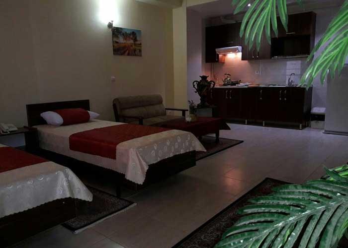 تخت های سینگل اتاق های هتل آپارتمان استقبال تبریز