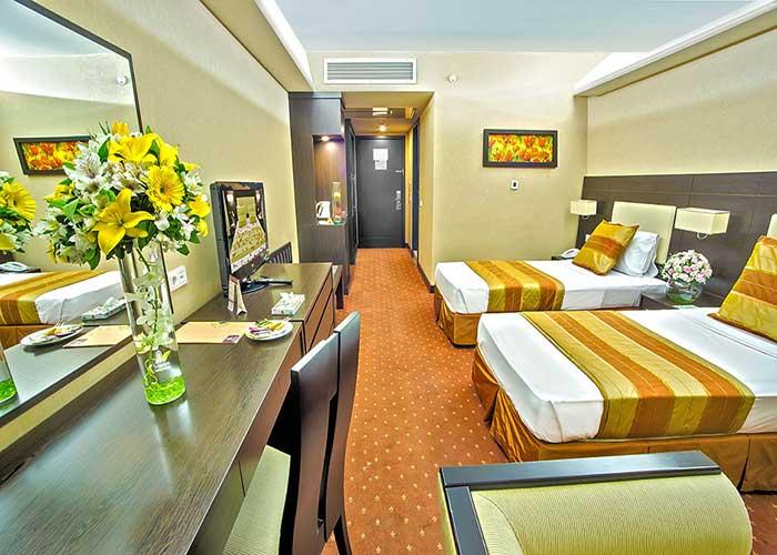 فضای اتاق دو تخته هتل اوین تهران