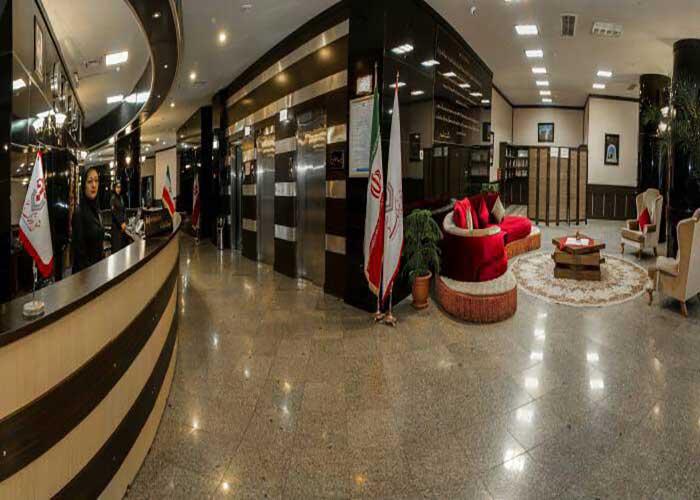 پذیرش هتل فرهنگ و هنر مشهد