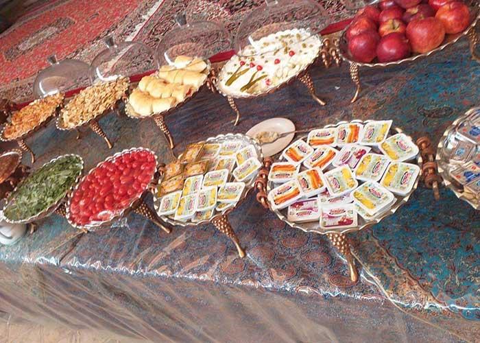 صبحانه هتل سنتی فیروزه یزد