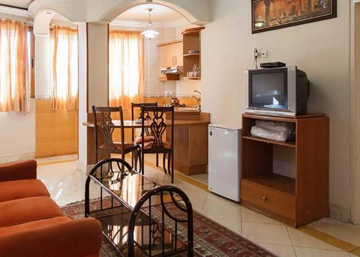 پذیرایی هتل آپارتمان قصر اصفهان