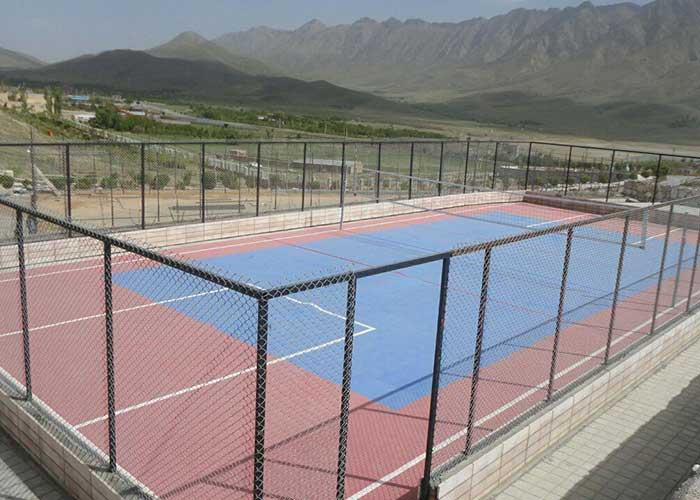 زمین تنیس مجتمع اقامتی گلستانکوه خوانسار