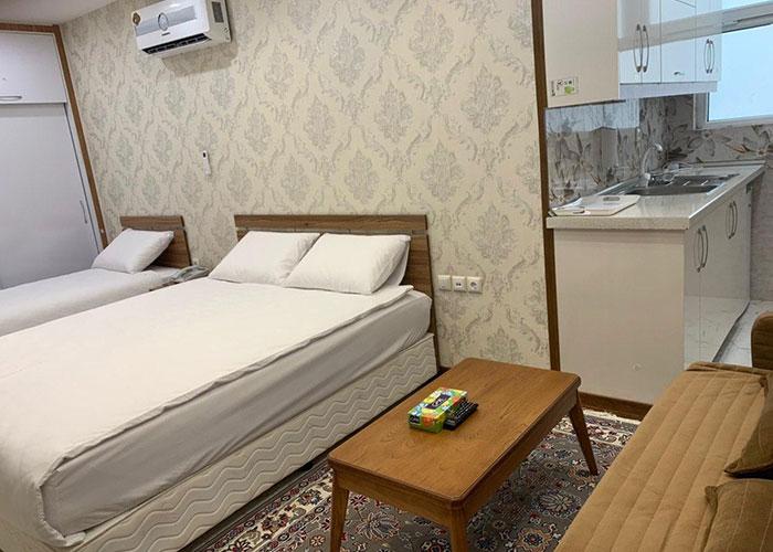 سه تخته آشپزخانه دار هتل ایران همدان