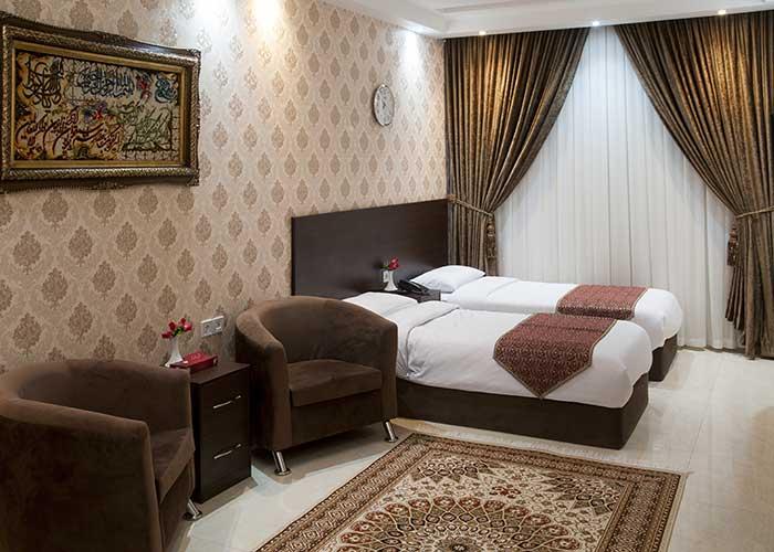 دو تخته توئین هتل جمیل قم