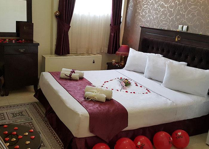 تزئین اتاق دوتخته دبل هتل کوثر مشهد