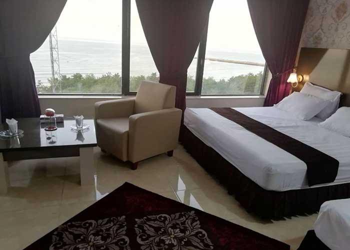 اتاق سه تخته هتل لیدو رامسر