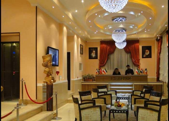 پذیرش هتل آپارتمان مهرگان تهران