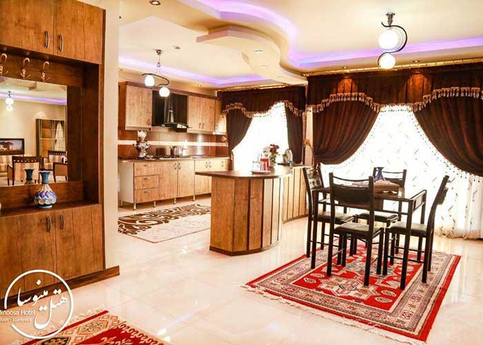 آشپزخانه خانه مسافر مینوسا اصفهان