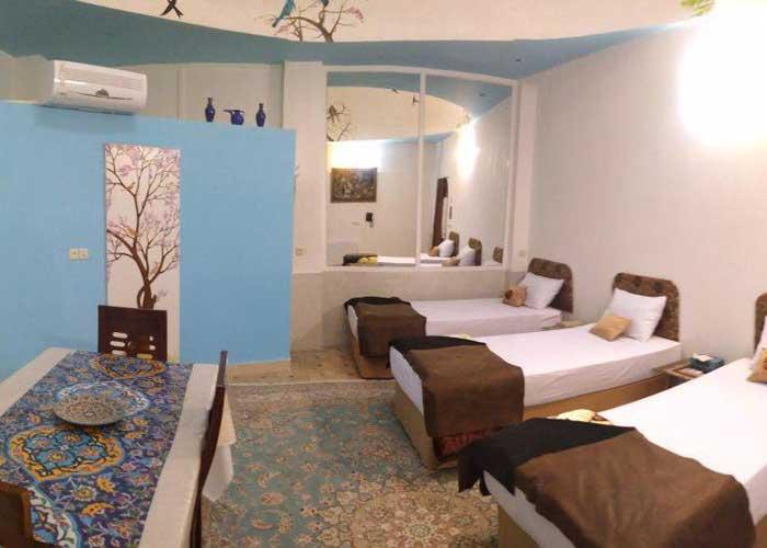 اتاق های هتل سنتی نگین کاشان