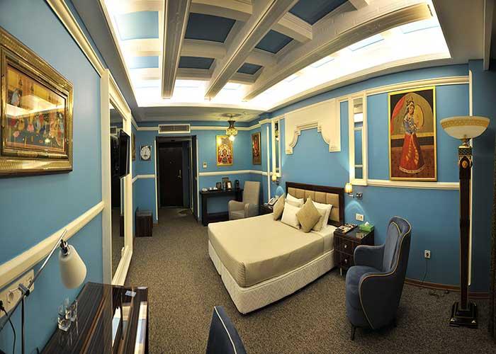 فضای اتاق دو تخته دبل هتل نیلو تهران