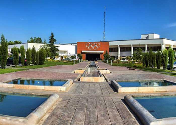 محوطه هتل المپیک تهران