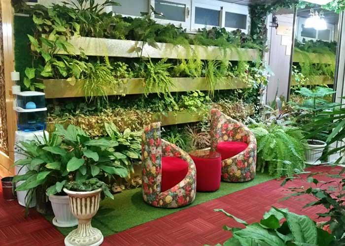 فضای سبز هتل آپارتمان هخامنشیان پارتاک اصفهان