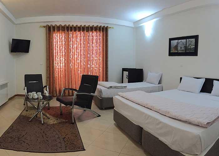 اتاق سه تخته هتل پدرام سرعین