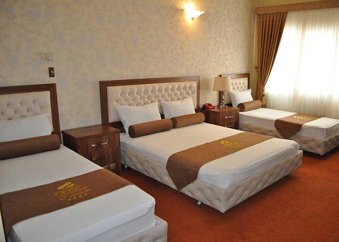 اتاق چهار تخته هتل پتروشیمی تبریز