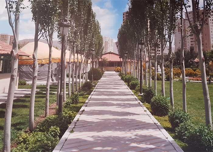فضای سبز هتل پتروشیمی تبریز