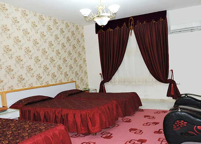 اتاق چهارتخته هتل جهانگردی سبزوار
