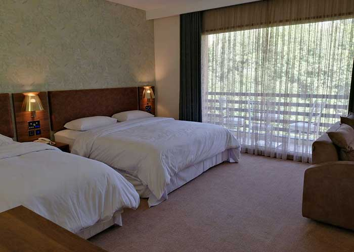 اتاق سه تخته هتل ساران شهمیرزاد