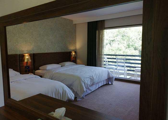اتاق چهار تخته هتل ساران شهمیرزاد