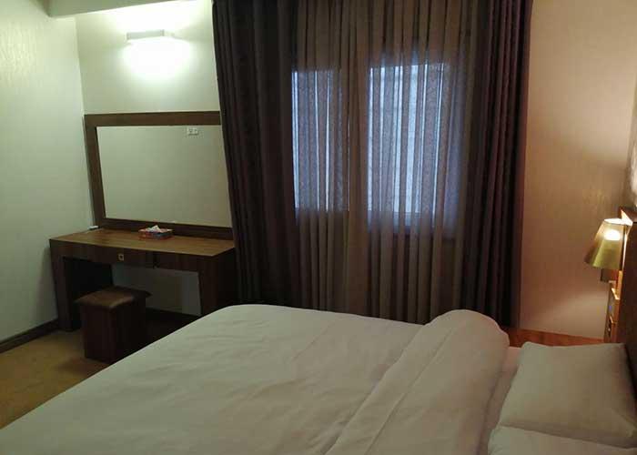 اتاق دو تخته هتل ساران شهمیرزاد