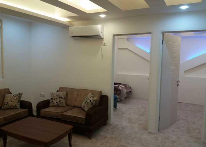 اتاق های هتل آپارتمان سفید بندر عباس