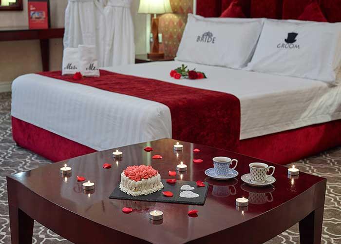 تزئین اتاق هتل شهریار تبریز