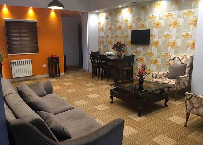 پذیرایی هتل آپارتمان شمس شیراز