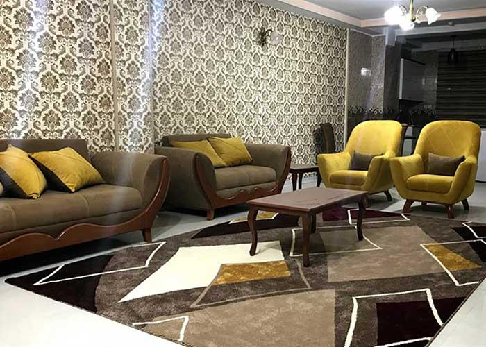 آپارتمان دو خوابه پنج تخته هتل آپارتمان سینا قزوین