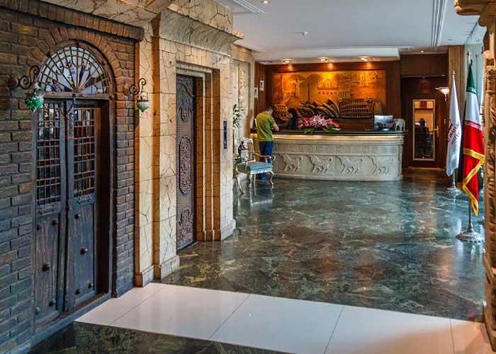 پذیرش هتل آپارتمان تاج محل تهران