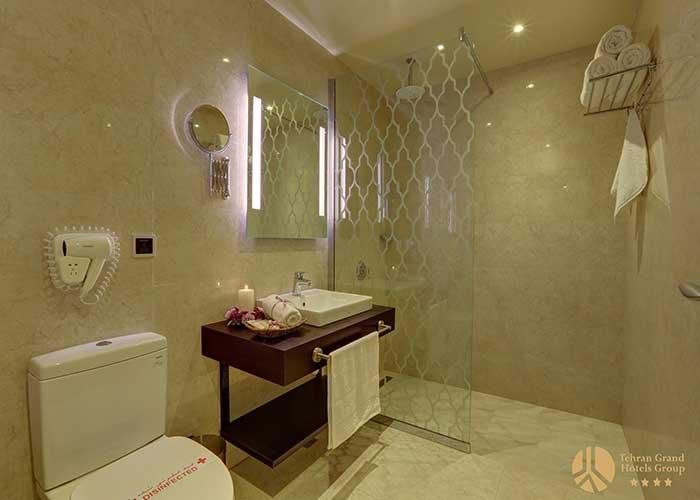 سرویس بهداشتی اتاق های هتل بزرگ تهران