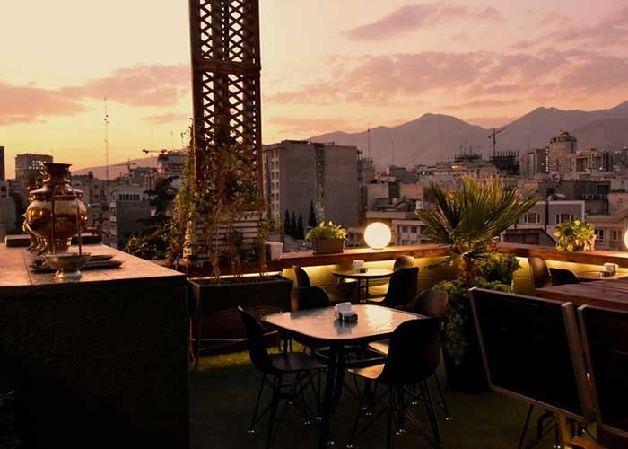 رستوران بام هتل آپارتمان طوبی