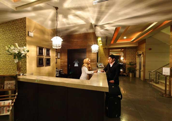 پذیرش هتل آپارتمان طوبی تهران
