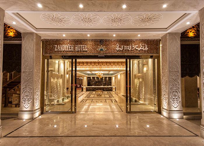 عکس ورودی هتل زندیه شیراز