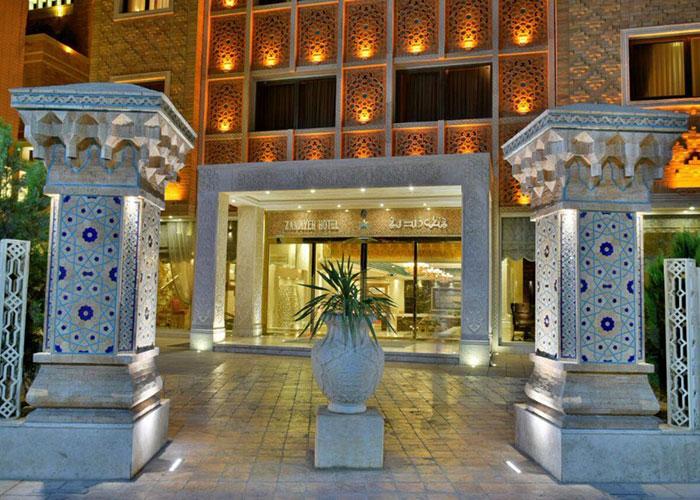 ورودی هتل زندیه شیراز